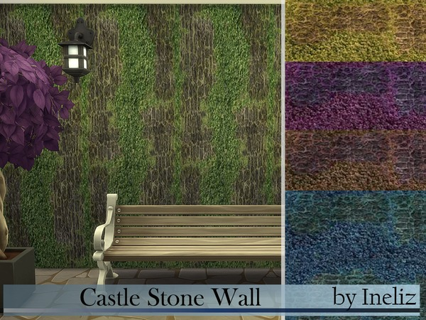 The Sims Resource: Castle Stone Wall by Ineliz