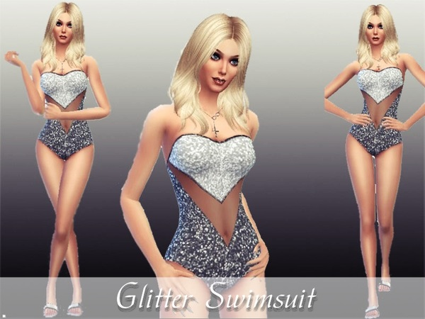 The Sims Resource: Glitter Swimsuit  by TheSims4Magazine