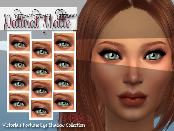 The Sims Resource: Natural matte eyeshadow by Foortunecookie1