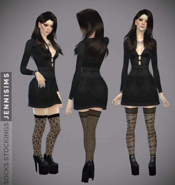 Jenni Sims: Socks Stockings Wonder Girls (12 designs)
