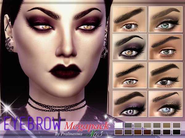 The Sims Resource: Eyebrow Megapack 3.0 by Praline Sims
