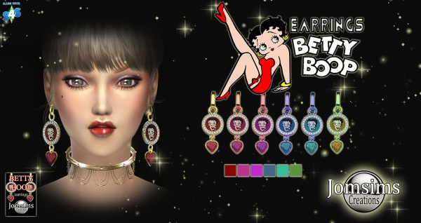 Jom Sims Creations: Betty Boop earrings