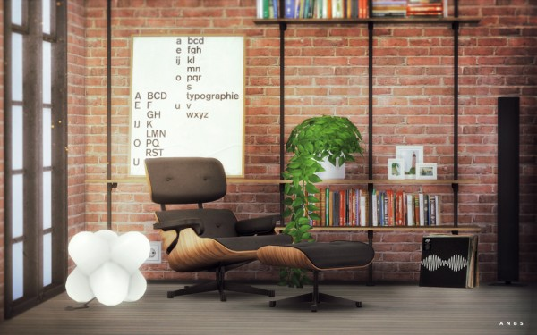 Alachie and Brick Sims: Eames Longe chair