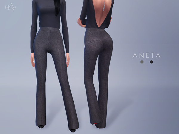 The Sims Resource: Flared Pants   ANETA by Starlord