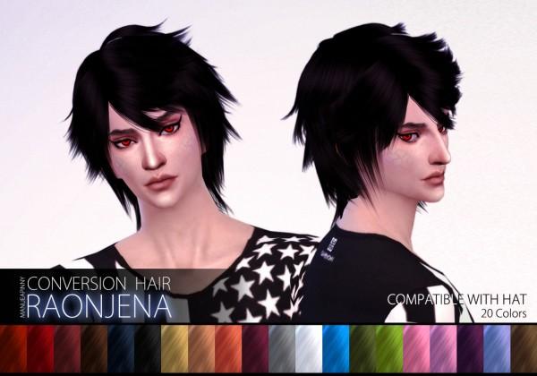Manueapinny: Raonjena male hair 25 retextured • Sims 4 ...