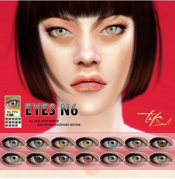 Tifa Sims: Eyes N6 • Sims 4 Downloads