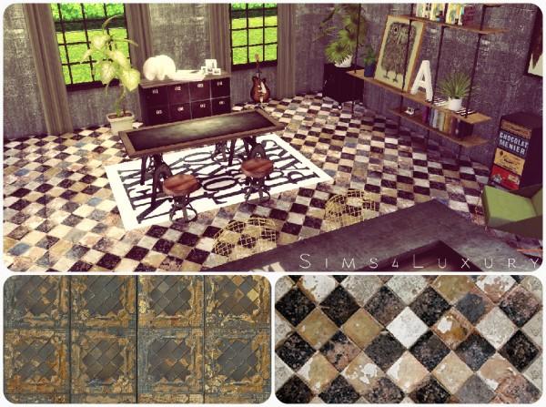 Sims4Luxury: Old Tiles floor