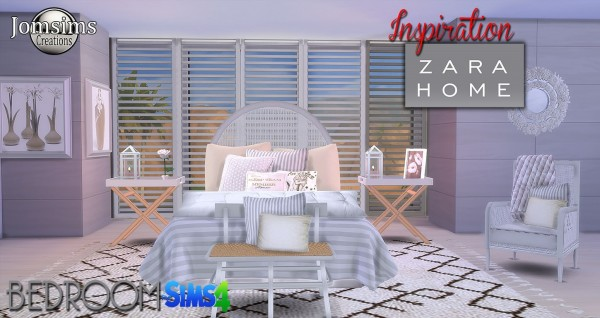 Jom Sims Creations: Inspiration Zara bedroom