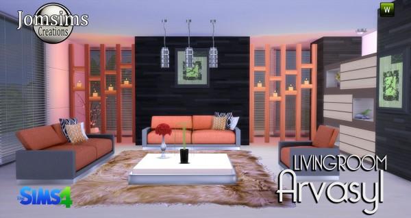 Jom Sims Creations: Arvasyl livingroom