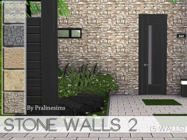 The Sims Resource Stone Walls 2 By Pralinesims Sims 4