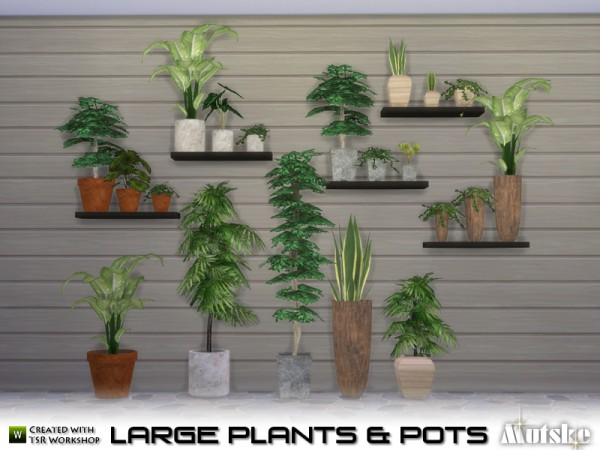 The Sims Resource Large Plant And Pots By Mutske Sims 4