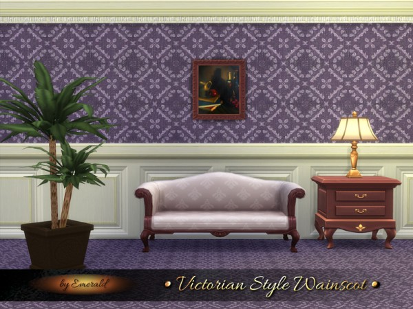 The Sims Resource: Victorian Style Wainscot by Emerald