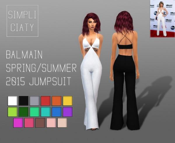 Simpliciaty: Balmain Spring/Summer 2015 Jumpsuit