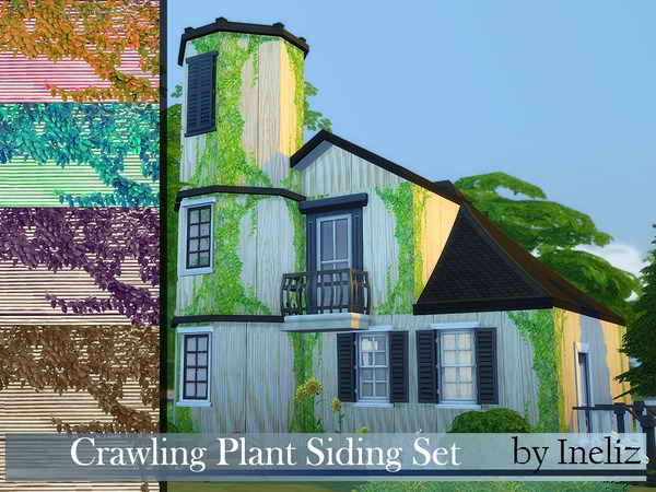 The Sims Resource Crawling Plant Siding Set Sims 4