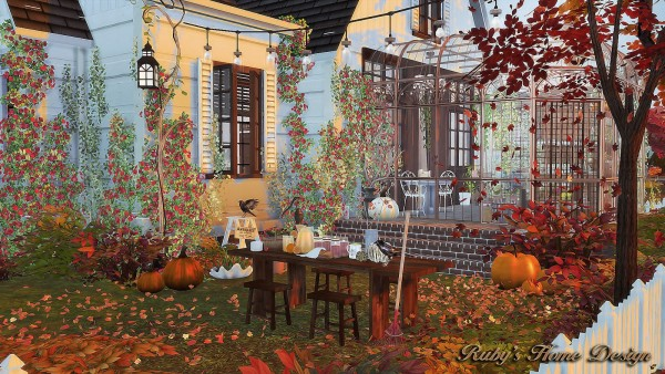 Ruby S Home Design Autumn Cottage Sims 4 Downloads