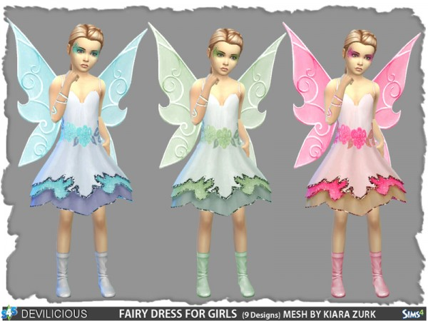 the sims resource fairy dress for girls by devilicious