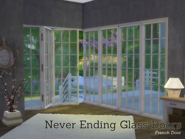 The Sims Resource: Never Ending Glass Door Buildset by Angela
