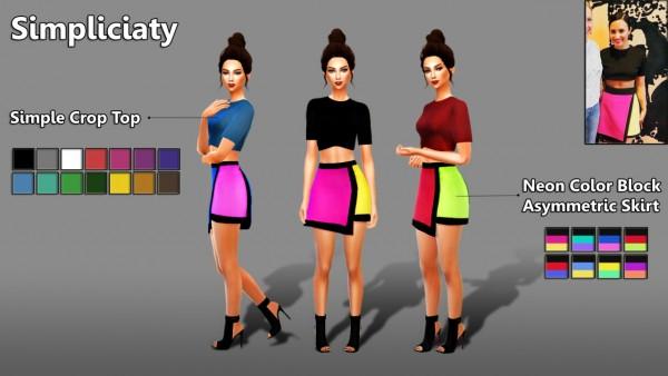 Simpliciaty: Asymmetric Skirt and Crop Top
