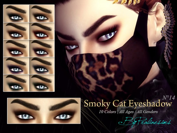 The Sims Resource: Smoky Cat Eyeshadow N14 by Pralinesims