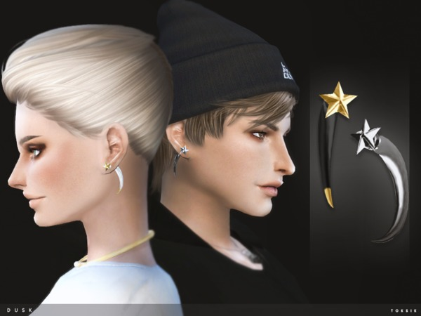 The Sims Resource: Dusk Earrings by toksik