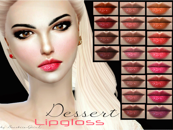 The Sims Resource: Dessert Lipgloss by Baarbiie GiirL