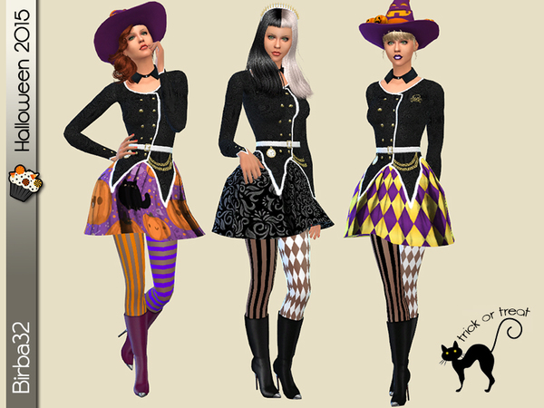 The Sims Resource Halloween Witch Dress By Birba32