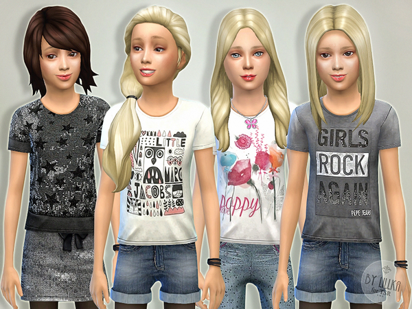 The Sims Resource: T  Shirt Collection GP04 by lillka