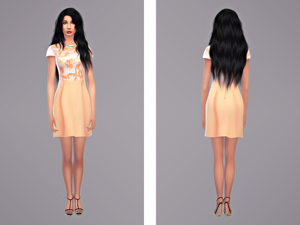 Sims Fans: Naoko   Dress by Tangerine