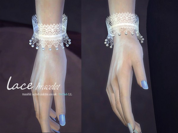 The Sims Resource: Lace bracelet & gloves by S Club