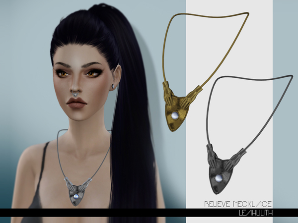 The Sims Resource: Believe Necklace by LeahLilith