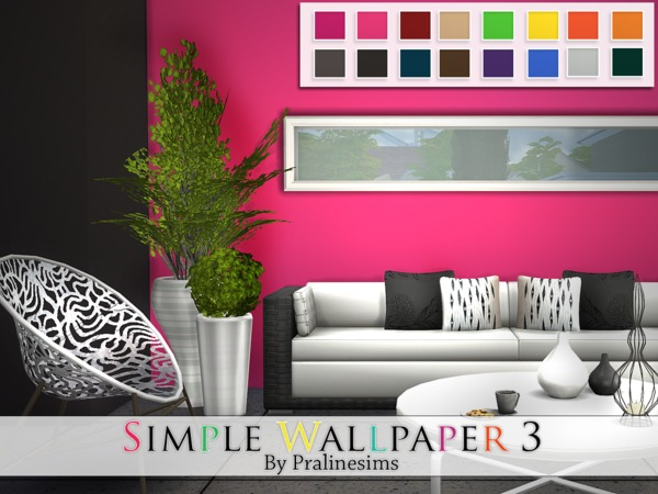 The Sims Resource: Simple Wallpaper 3 by Pralinesims
