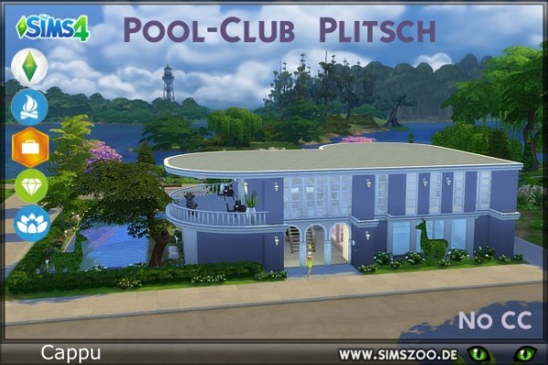 Blackys Sims 4 Zoo: Pool Club by Cappu