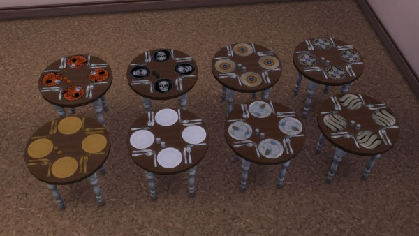 Mod The Sims Table Clutter Tablecloth Placemats