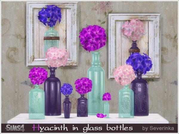 The Sims Resource: Hyacinth in glass bottles by Severinka