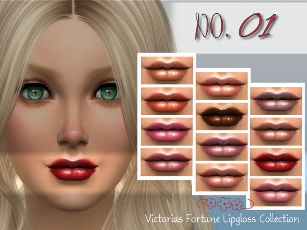 The Sims Resource: Lipgloss No. 01 by fortunecookie1