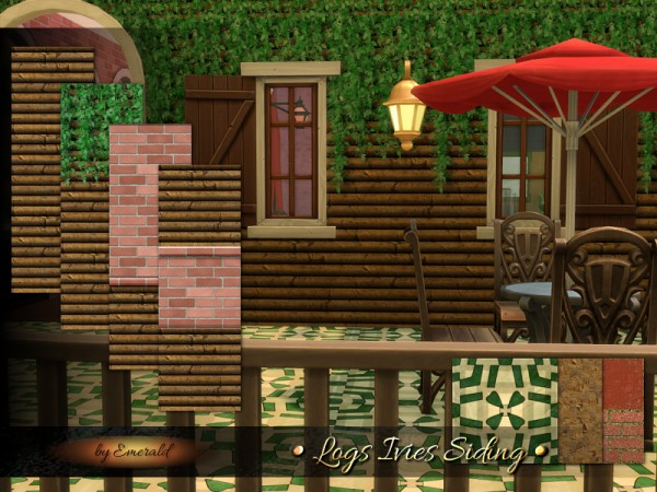 The Sims Resource: Logs Ivies Siding by Emerald