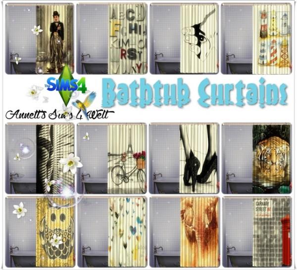 Annett`s Sims 4 Welt: Bathtub Curtains   Recolors   Part2