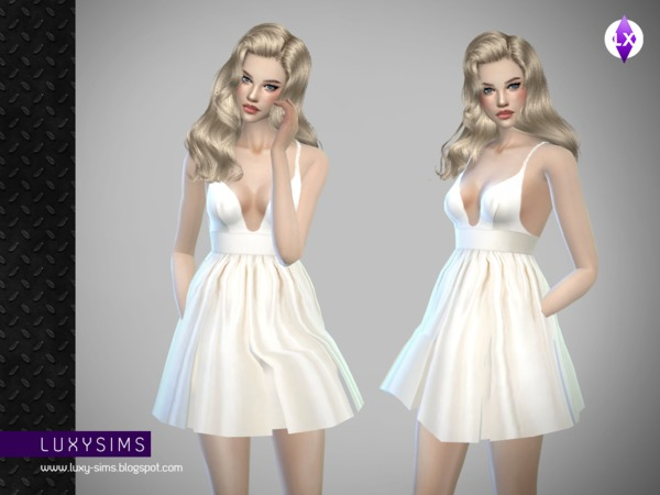The Sims Resource: White Dress by LuxySims