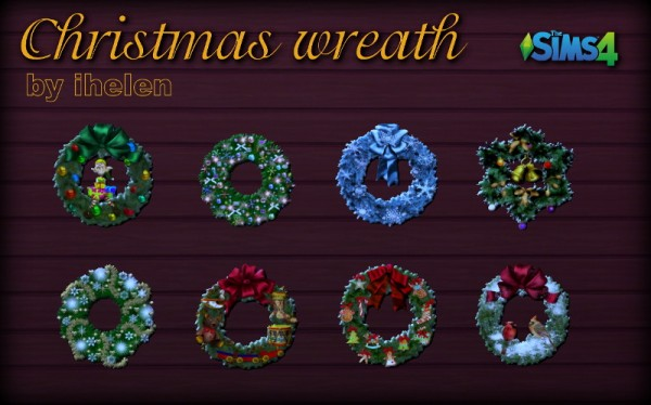 Ihelen Sims: Christmas Wreath stickers