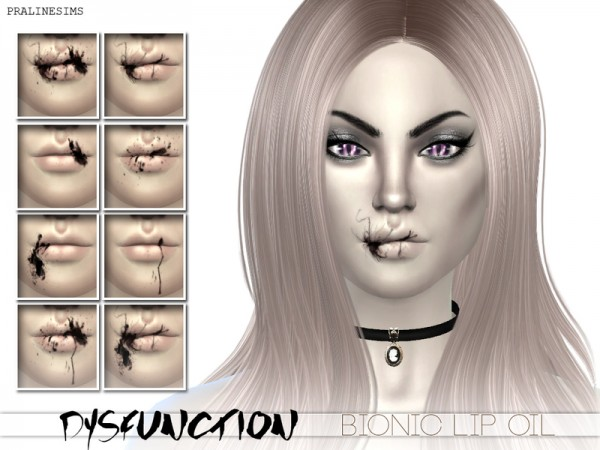 The Sims Resource: DYSFUNCTION Bionic Oil Splatter by Pralinesims