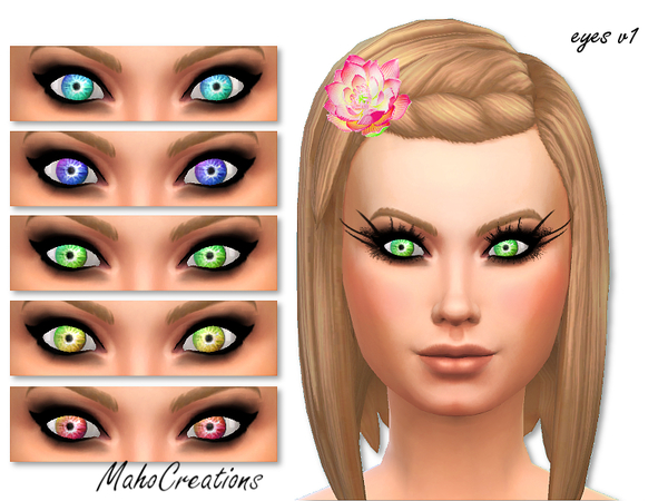 The Sims Resource: Electric Eyes by MahoCreations