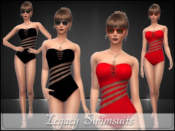 The Sims Resource: Legacy Swimsuits by TheSims4Magazine