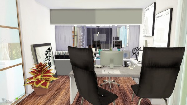 Mony Sims Young Architect Home Office Sims 4 Downloads