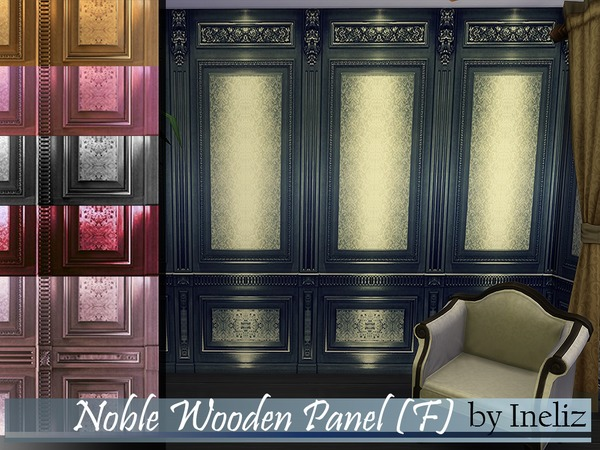 The Sims Resource: Noble Wooden Panel F by Ineliz