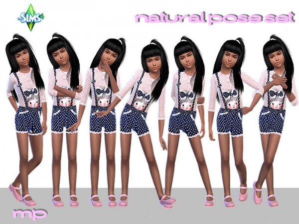 The Sims Resource: Natural Poses Set by MartyP