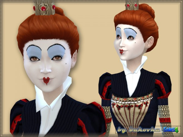 Queen Of Hearts Hairstyles: The Sims Resource: Set Red Queen By Bukovka • Sims 4 Downloads