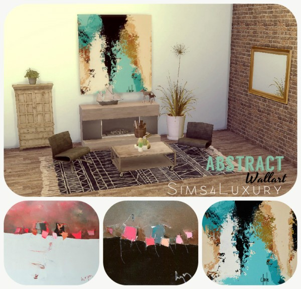 Sims4Luxury: Abstract square wallart