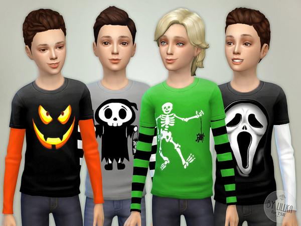 The Sims Resource: Boy Halloween Shirt by lillka