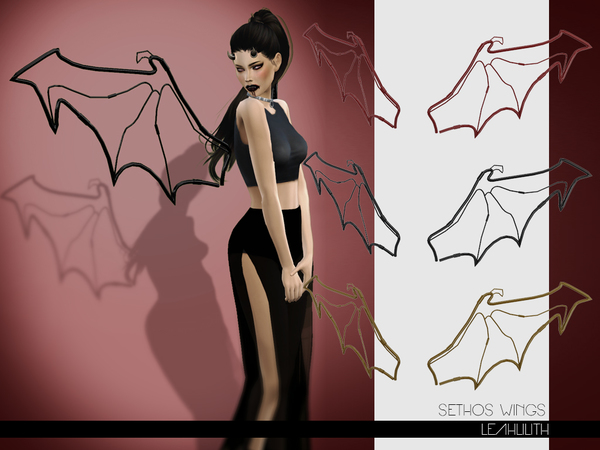 The Sims Resource Sethos Wings By Leahlilith Sims 4