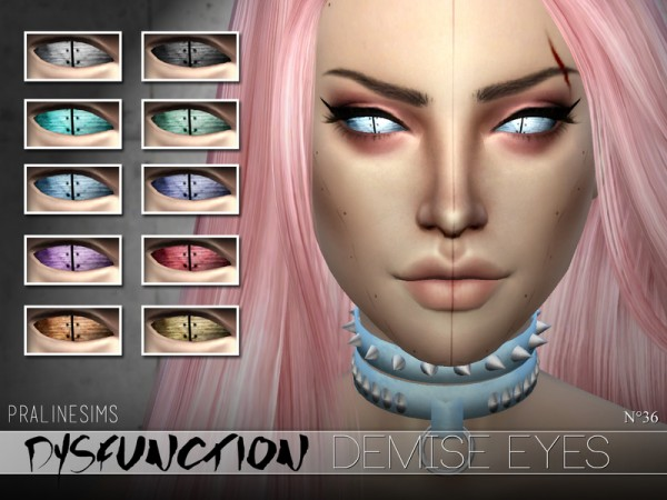 The Sims Resource: DYSFUNCTION Eye Minipack N03 by Pralinesims